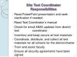 site test coordinator responsibilities