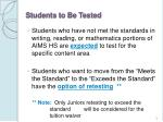 students to be tested6