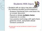students with injury