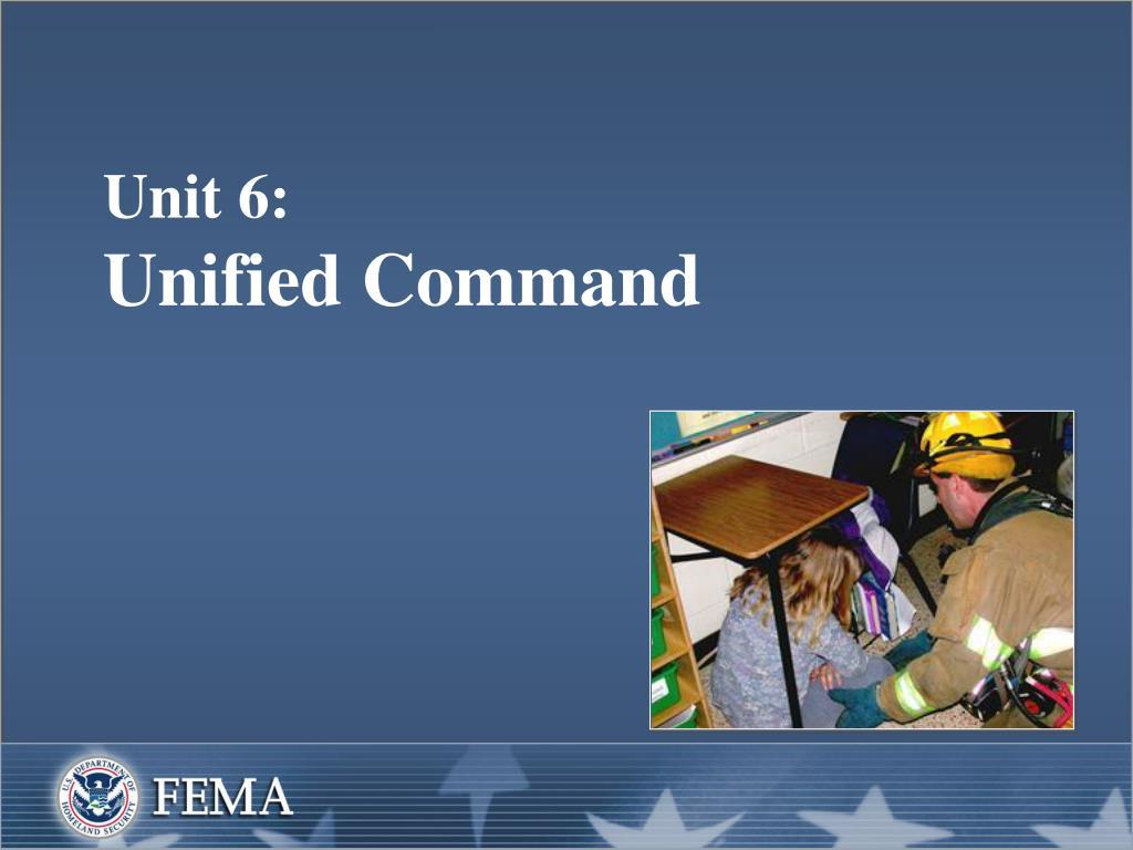 unit 6 unified command l.