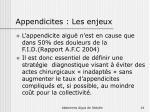 appendicites les enjeux