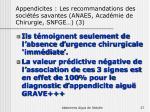 appendicites les recommandations des soci t s savantes anaes acad mie de chirurgie snfge 3
