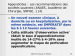 appendicites les recommandations des soci t s savantes anaes acad mie de chirurgie snfge 4