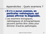 appendicites quels examens