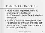hernies etranglees
