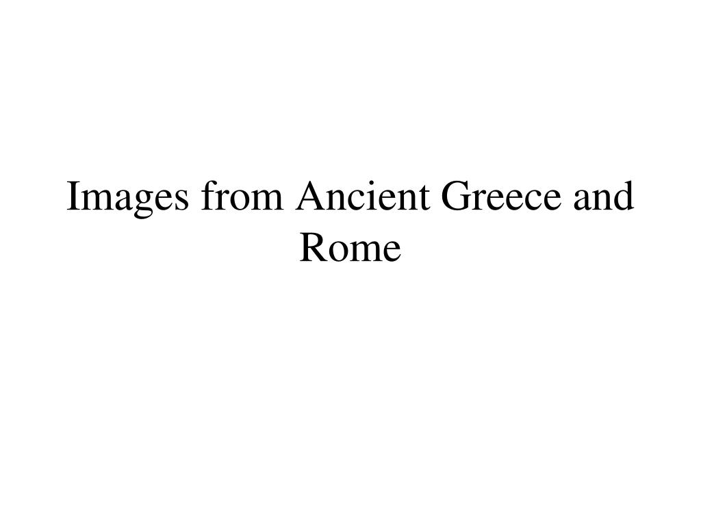 images from ancient greece and rome l.