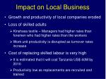 impact on local business
