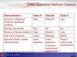 cmmi appraisal method classes