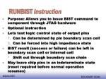 runbist instruction