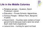 life in the middle colonies8