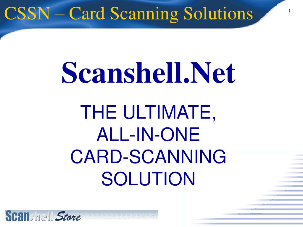 cssn card scanning solutions l.