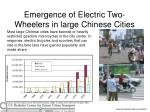 emergence of electric two wheelers in large chinese cities