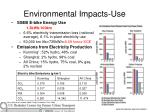 environmental impacts use
