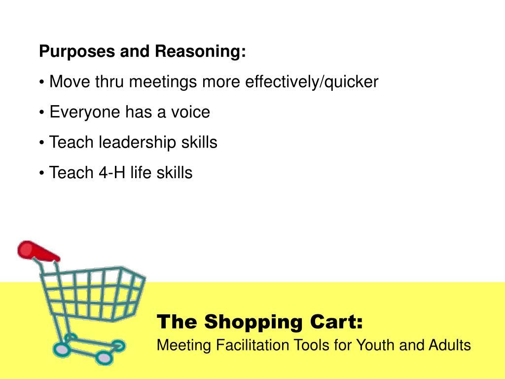 Purposes and Reasoning: