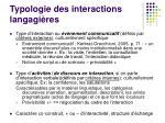 typologie des interactions langagi res