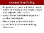 constant sum scaling