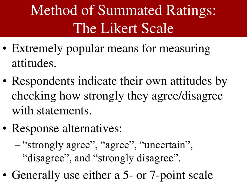 likert scale summated rating scale