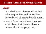 primary scales of measurement7