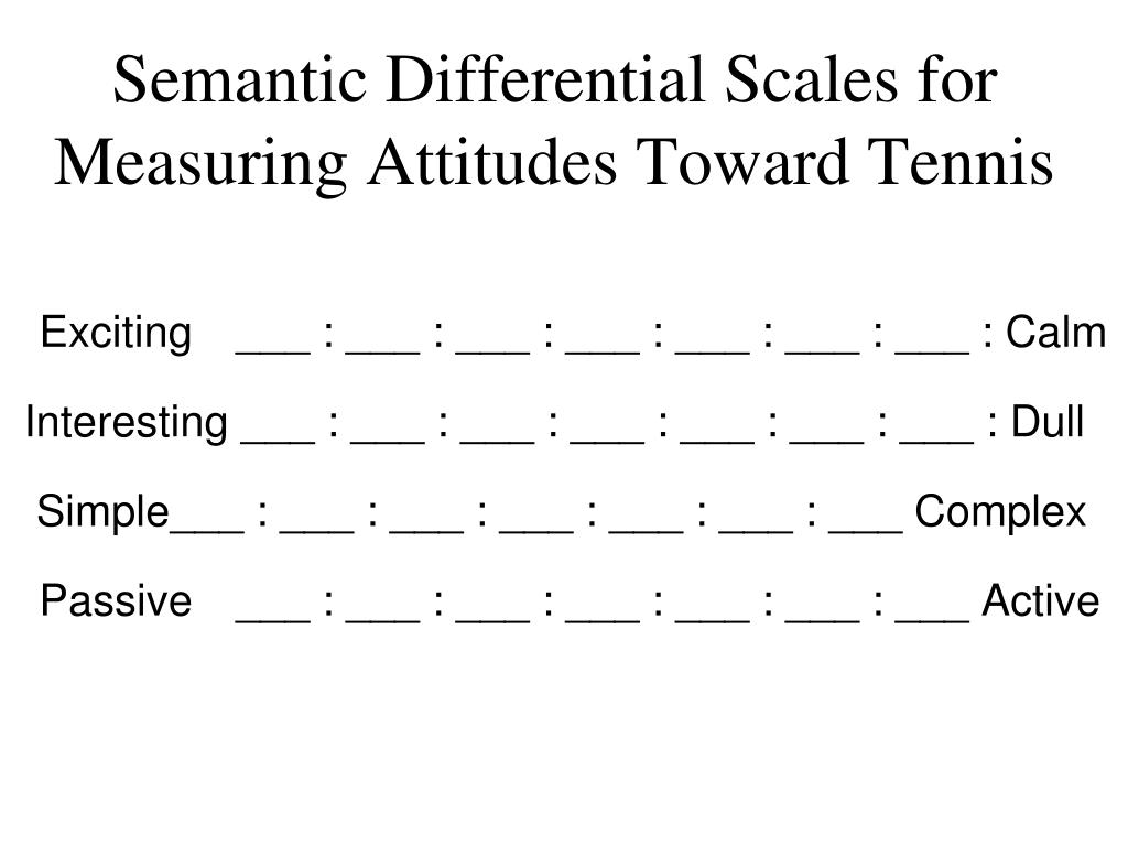 numerical scales vs semantic differential scales
