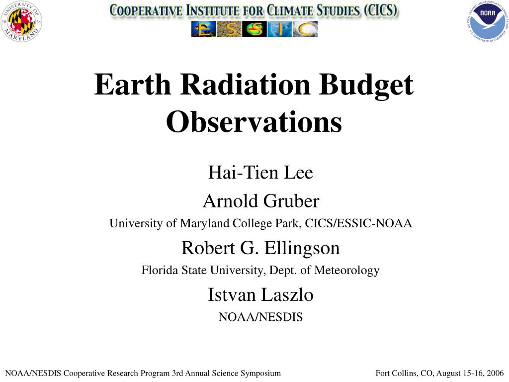 earth radiation budget observations l.