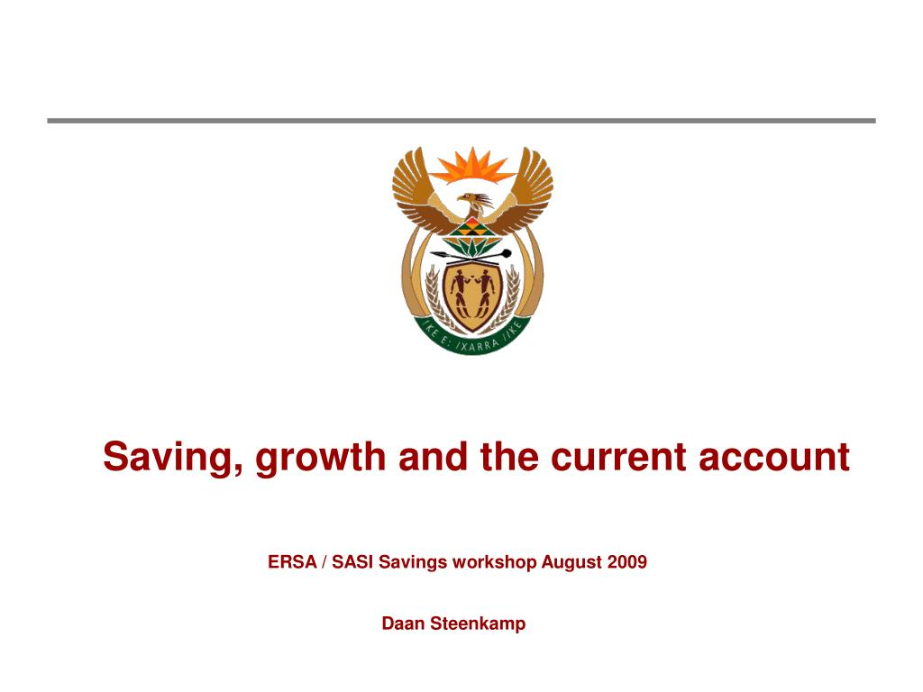 saving growth and the current account l.