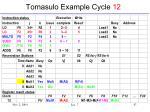 tomasulo example cycle 12