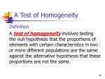 a test of homogeneity