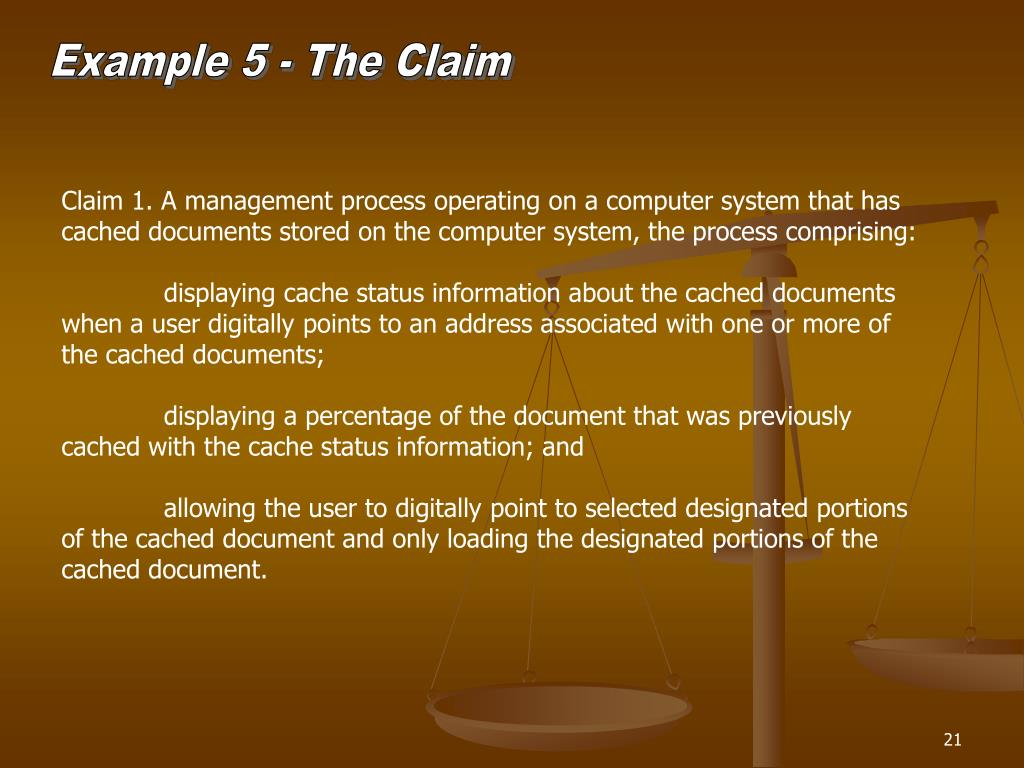 Example 5 - The Claim