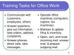 training tasks for office work