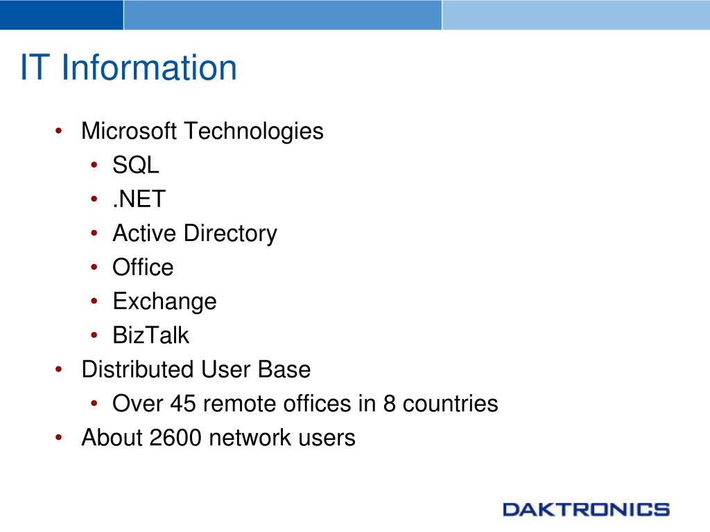 IT Information