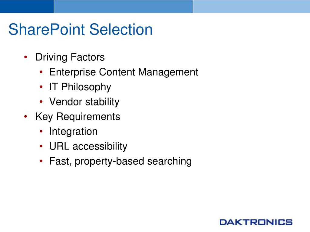 SharePoint Selection