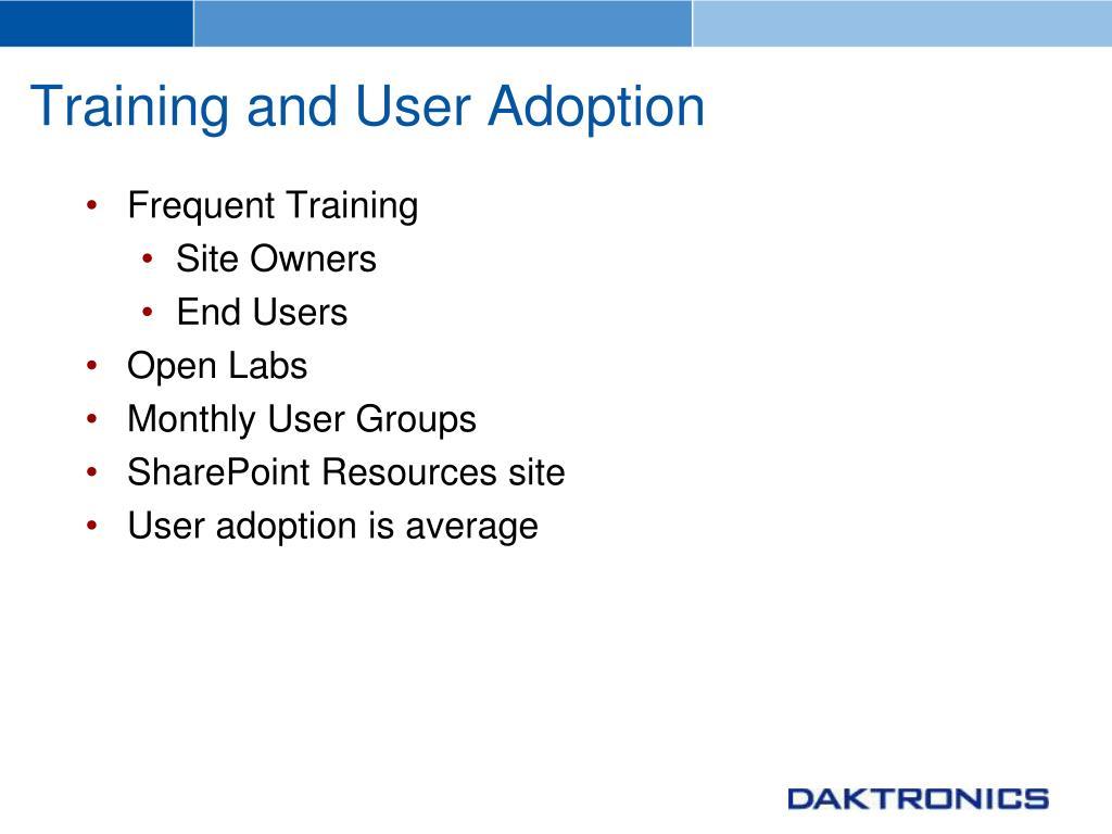 Training and User Adoption