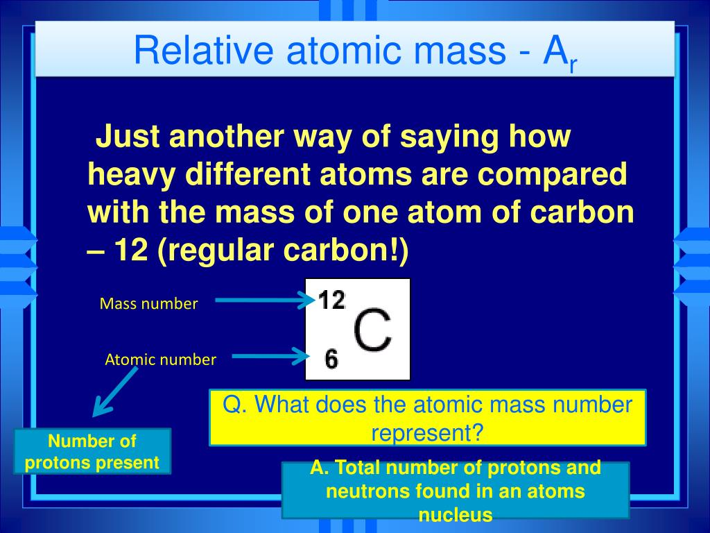 relative atomic mass a r l.