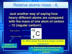 relative atomic mass a r