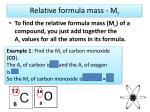 relative formula mass m r