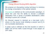 energy efficient routing eer algorithm