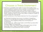 choose a thesis statement