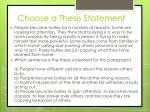 choose a thesis statement10