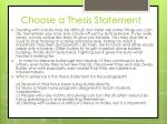 choose a thesis statement11