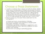 choose a thesis statements