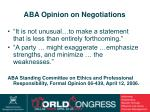 aba opinion on negotiations