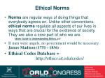 ethical norms