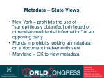 metadata state views