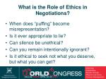 what is the role of ethics in negotiations