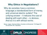why ethics in negotiations