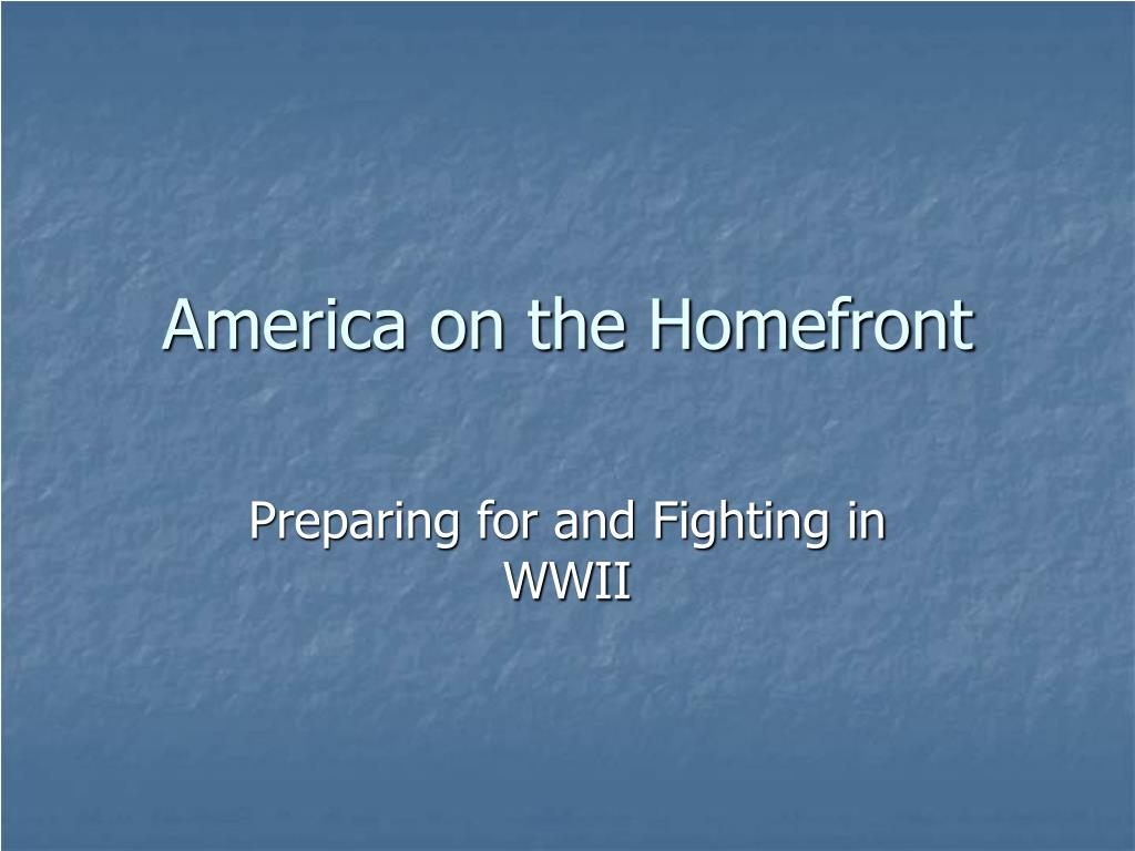 america on the homefront l.