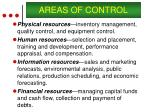 areas of control