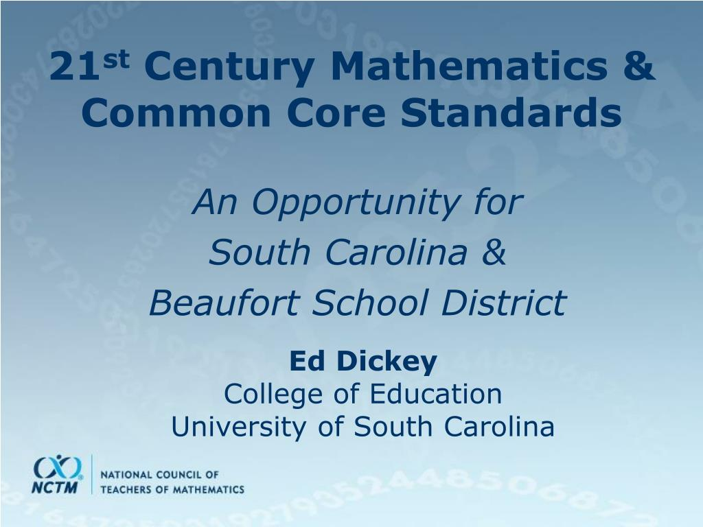 21 st century mathematics common core standards l.