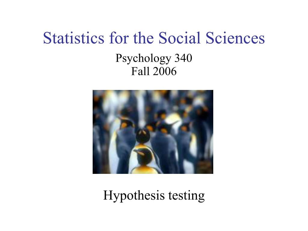 statistics for the social sciences l.