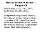 market structure access freight ii
